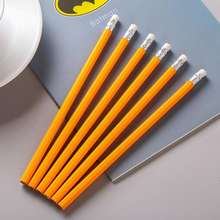 High Quality Sharpen OEM Logo Yellow Wooden HB Pencil With Eraser