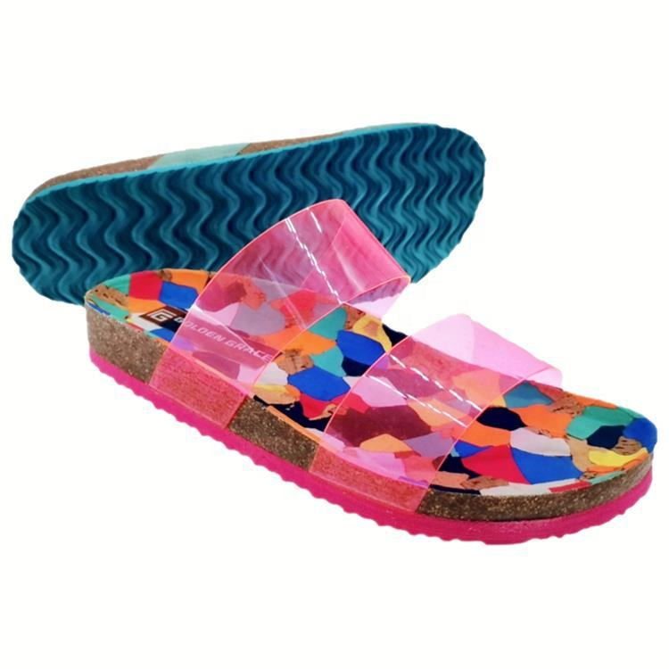 Professional factory transparent PVC jelly flat slippers outdoor women sandals