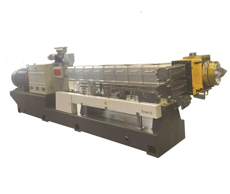 double screw extruder for plastic resin pelletizing granules