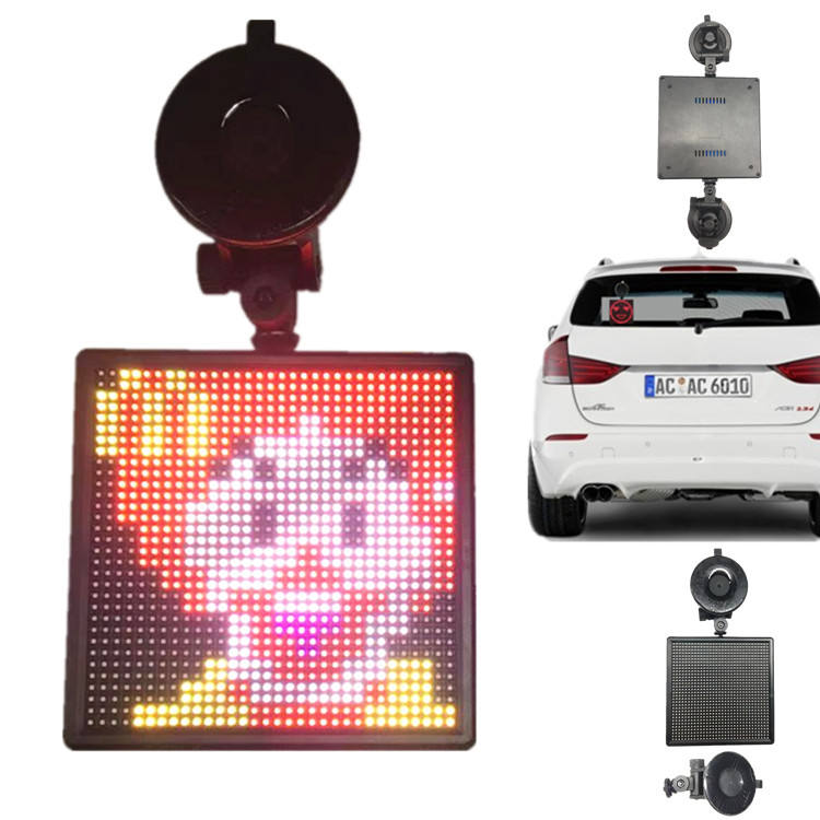 P4-32x32RGB New ABS Frame Bluetooth APP Running Text Funny Emotions Rich Animations Car Shop Window Emojipic LED Display