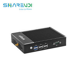 Manufactory computer hardware fanless compact Quad core J3160 Dual lan TPM 4K mini pc for Payment kiosk