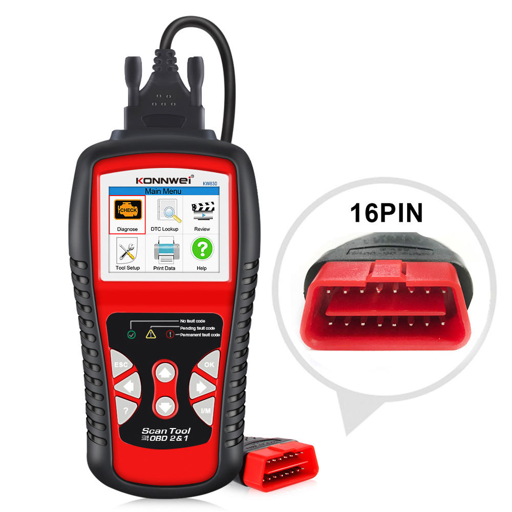 KONNWEI KW830 Car Fault Code Reader Engine Scanner OBDII EOBD Diagnostic Scan Tool KW850 NT301 AL519