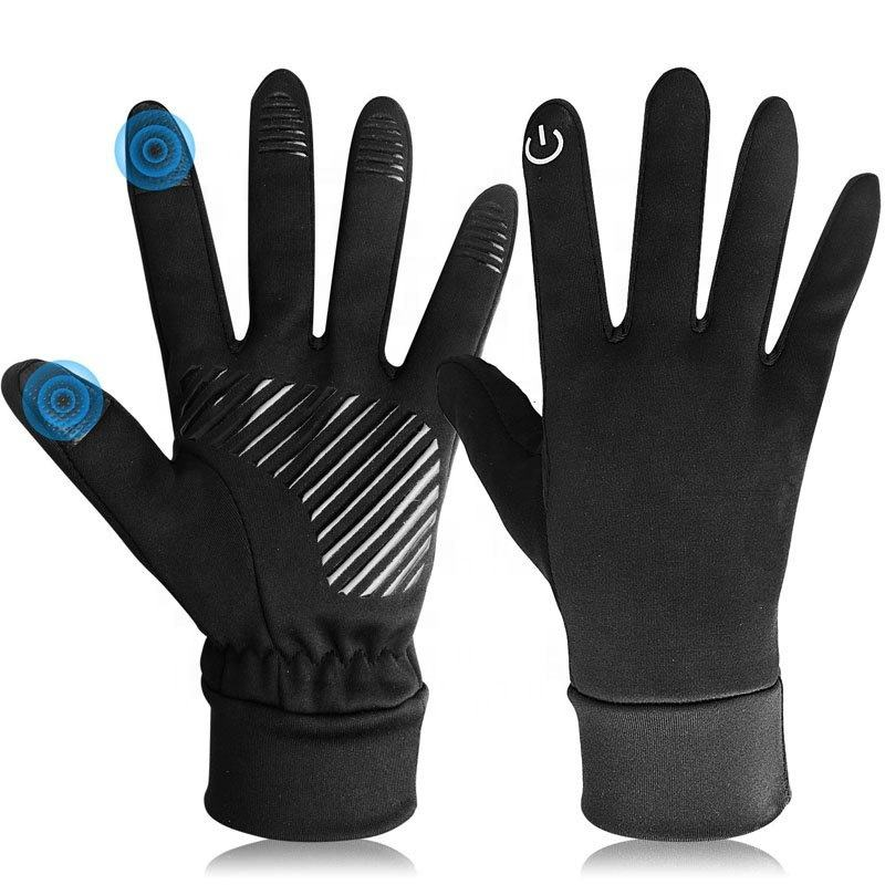 Anti Slip Outdoor Waterproof Motorcycle Bike Riding Running Ski Winter Warm Touch Screen Sports Driving Windproof Cycling Gloves