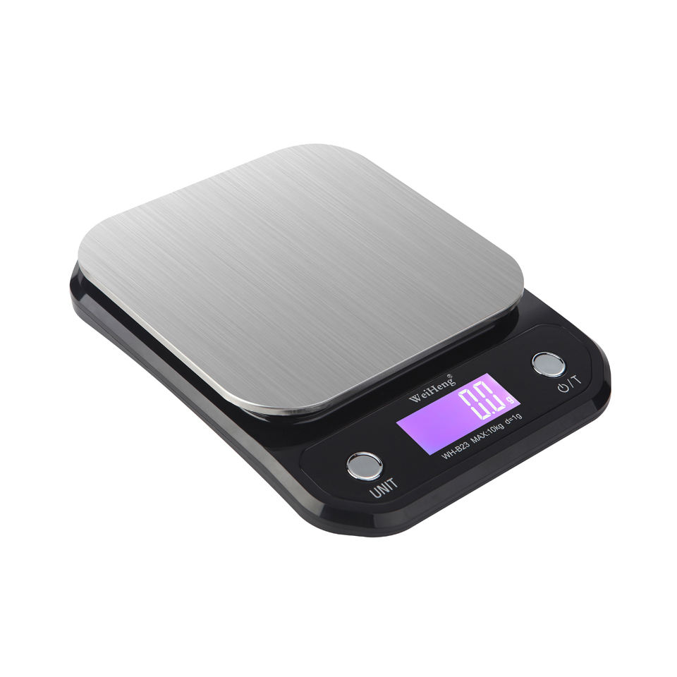 Guangzhou Weiheng 10Kg Digital Weighing Scale dengan 15 Cm Square Platform Stainless Steel