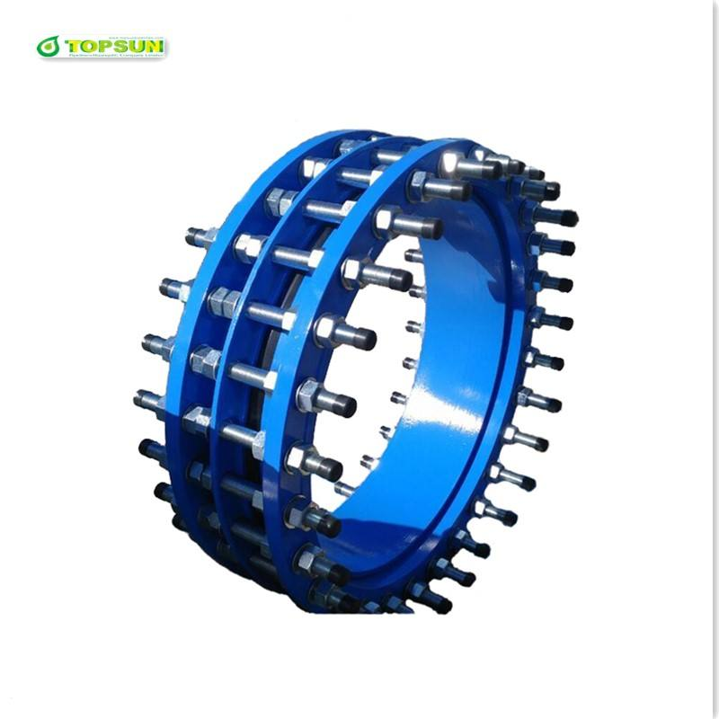 Ductile iron valve fittings dismantling joint Ductile iron flange dismantling joint with galvanized steel bolts and nuts