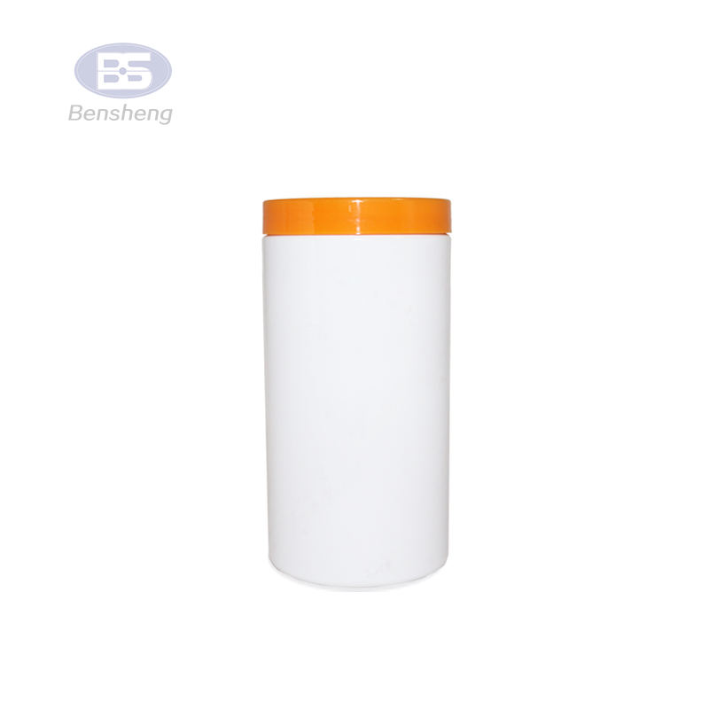 round tablets capsules bottle 500cc PE bottle solid plastic bottles medical packaging plastic jar with colorful cap
