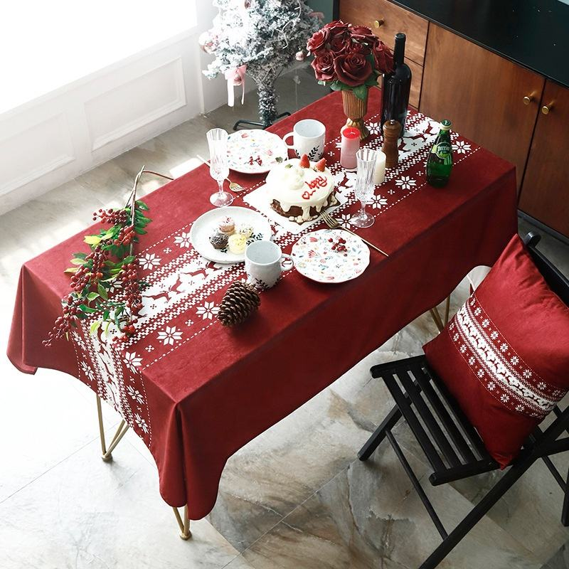 Amazon Hot Sale Birthday Restaurant Tablecloth Printing Tablecloths Home Decor
