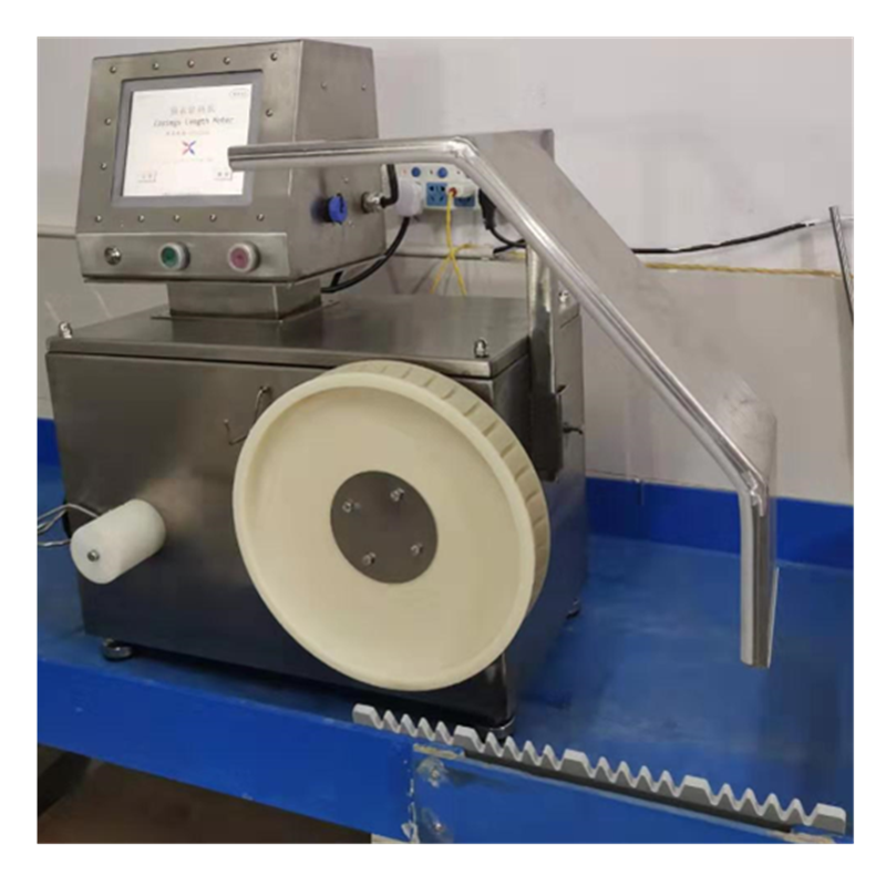 slated natural sausage casing measure machine