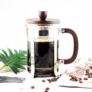 Reusable and Eco-friendly Heat Resistant Borosilicate Glass Coffee Pot 800ml, Glass French Press Coffee and Tea Pot with Bamboo