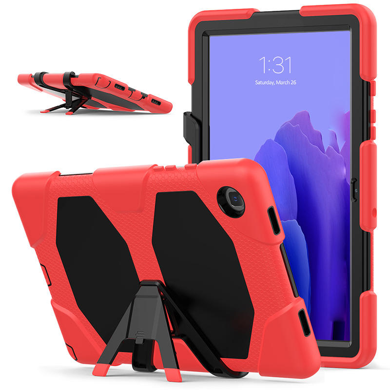 Detachable Kickstand Thick Silicone Bumper PC Case For Samsung Galaxy Tab A7 10.4 T500 T505 Tablet Cover With Screen Protector
