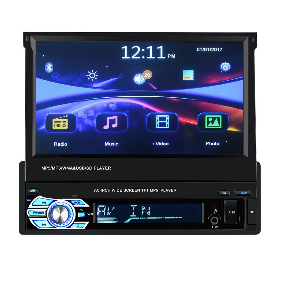 7 in multimedia stereo touch screen video auto mp5-player mit BT radio