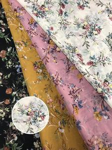Polyester stretch satin printed fabric clothing fabric wholesale
