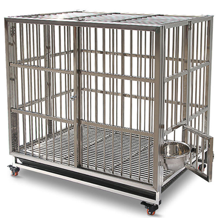 Pet cages dog cage stainless steel commercial dog kennels pet cages carriers houses dog
