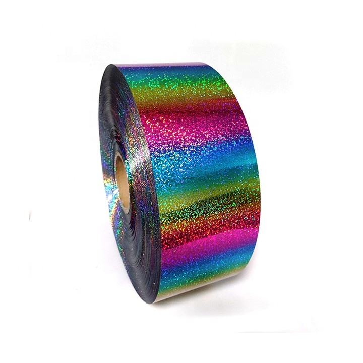 Multi-color Holographic PET Spangle Film Rolls Sequin Reversible Reel