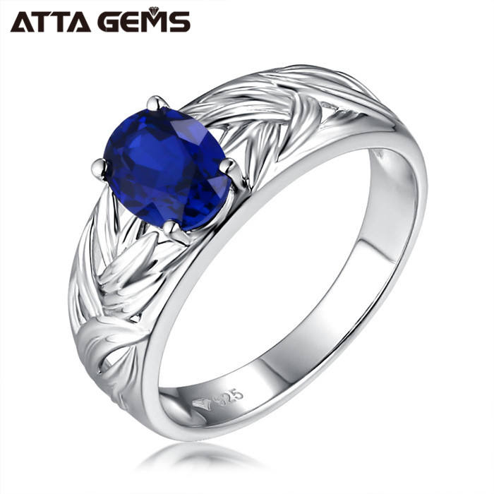 925 sterling silver blue sapphire engagement rings for women