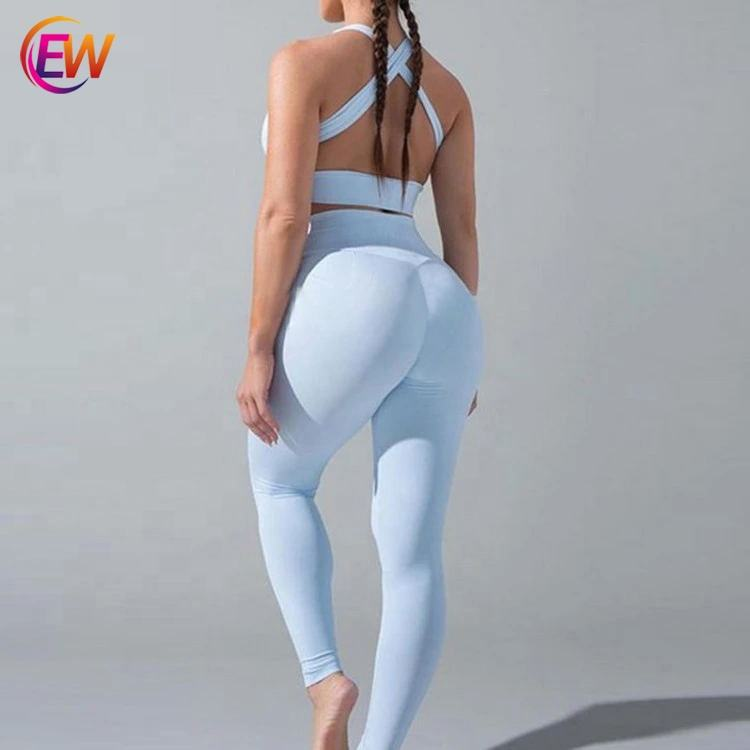 Wholesale Non See Through High Waisted Workout Yoga Polyester Leggings For Women