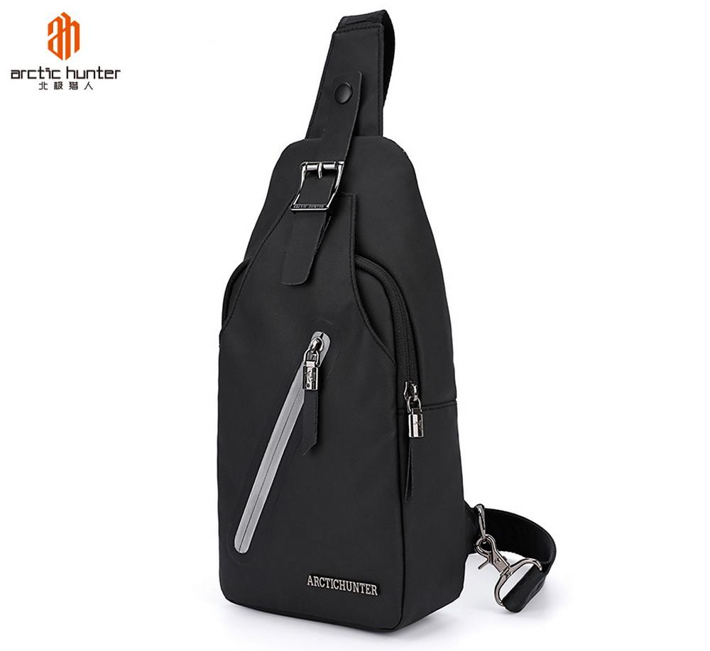ARCTIC HUNTER New Creative Reflective Zipper Waterproof Crossbody Sling Bag For Men Single Shoulder bag Chest Bags
