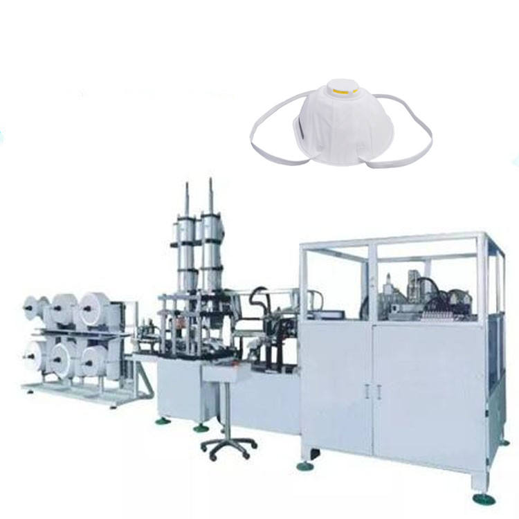 Automatic factory supply 3M non-woven n95 cup type face mask making machine