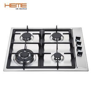 Commercial induction cooker hob with 4 ring stainless steel top gas cooktops