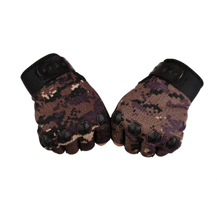 Four Bean Half Finger Warrior Gloves hard knuckle in many colors