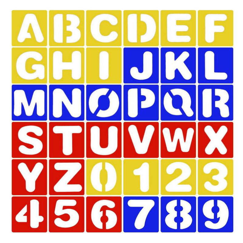 Xinbowen Hot Sales Eco-friendly PP Material Number and Alphabet Stencil