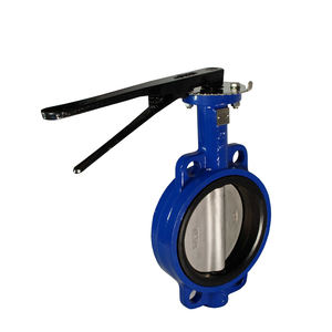 Resilient epdm seated handle wafer centered disc 3 butterfly valve price