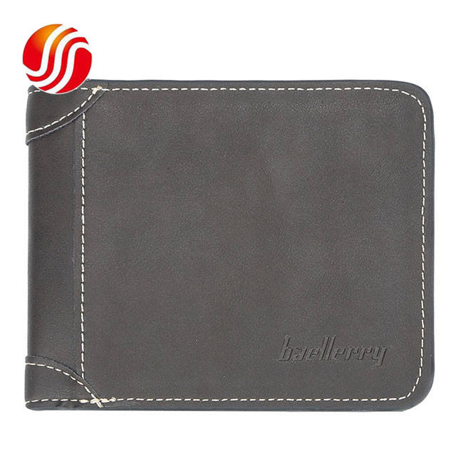 Teenager Vintage Short Wallets Fashion Personality Cross Section Purse PU Leather Casual Wallet for Men
