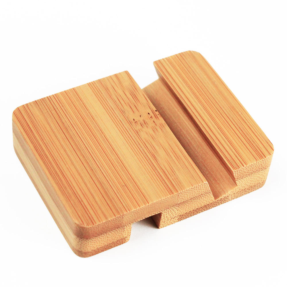 Bamboo Wood Charging Stand Mobile Phone Holder Real Wood Cell Phone Stand Mobile Holder