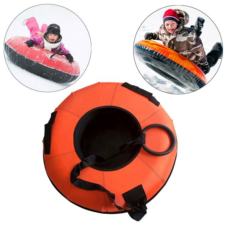 1 Rider Inflatable Towable Snow Sled Tube or Tubing With Nylon Cover For Adults And Kids