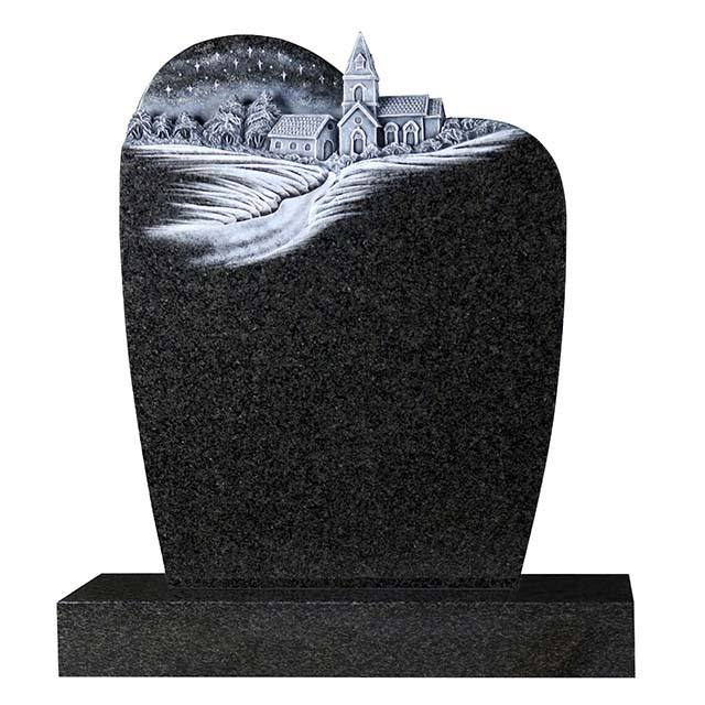 Graphic Customization UK Customized Blank Marble Granite Antique Headstone Memorial Stones Gravestone with Weeping Angel Statue