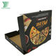 Recycle paper packaging black custom printed pizza box