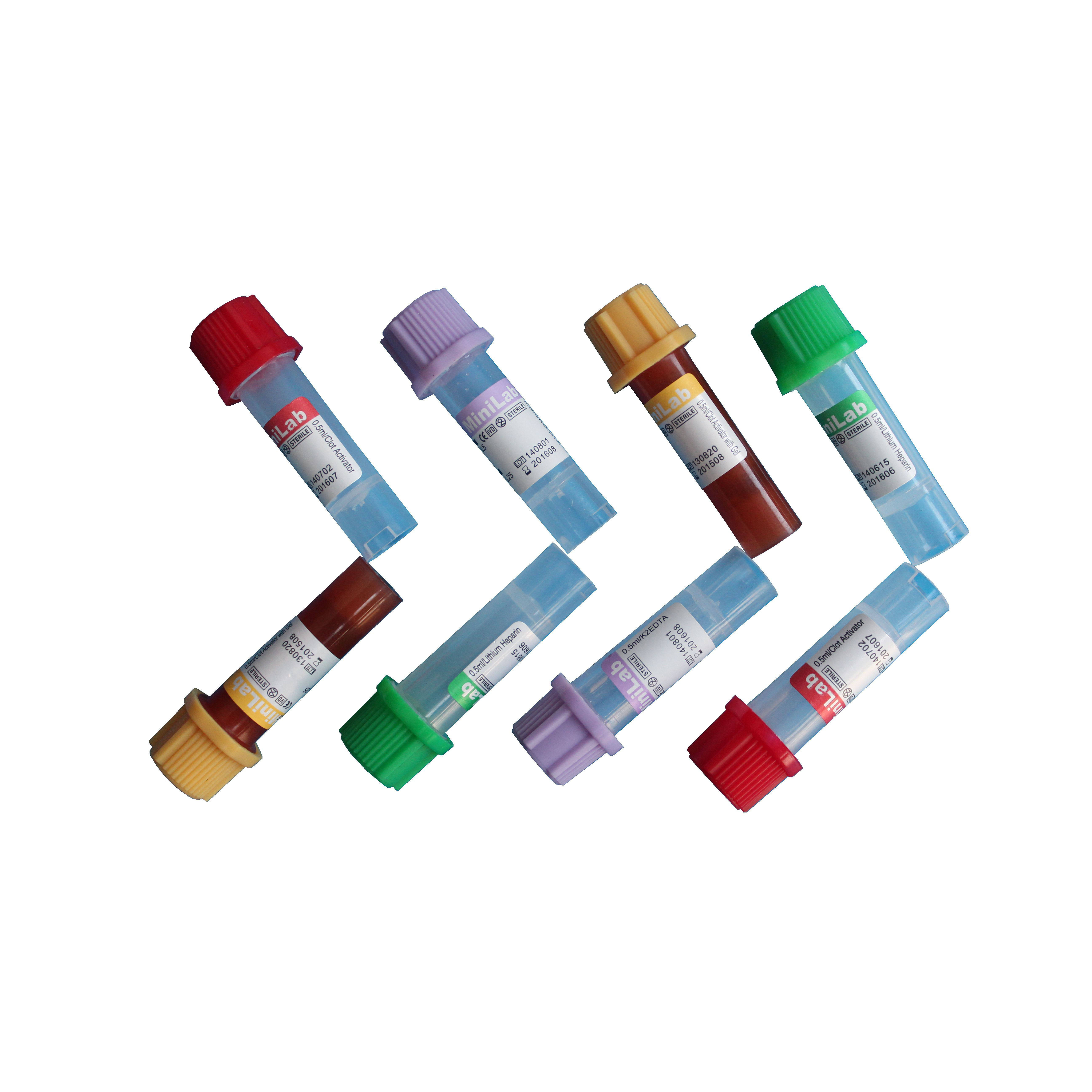 Medical disposable 0.25ml-0.5ml Blood sample collection tubes