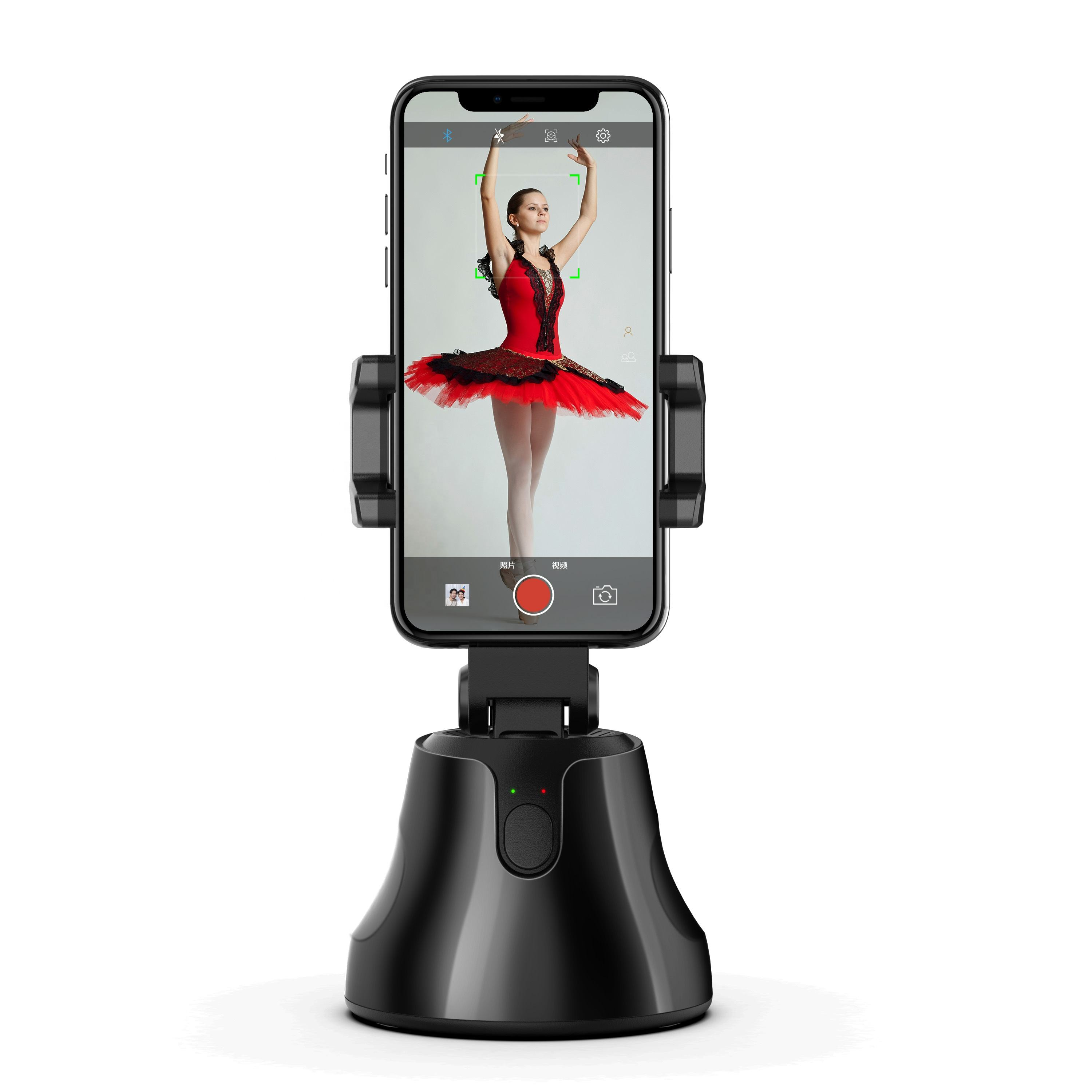 Free shipping 360 degree Rotation Auto Face Tracking Auto Smart Shooting Camera Phone Holder Apai Genie Stabilizer Gimbal
