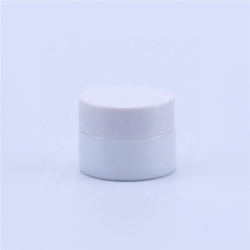 15g empty facial cream jar white Porcelain glass cosmetic cream jars 15g eye cream bottle