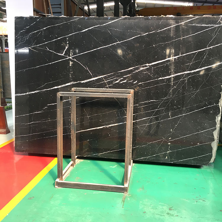 natural fossil nano black marquina marble stone tile,black marble tile with white veins,broken marble tile