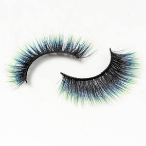 New look Colours faux mink strip lashes natrual soft colorful 3D mink eyelashes Wholesale 5D mink colored lashes