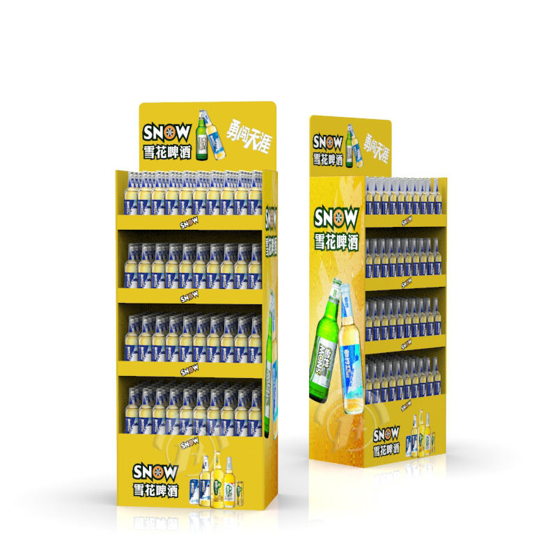 Supermarket Paper Display Corrugated Cardboard Display Shelf Rack