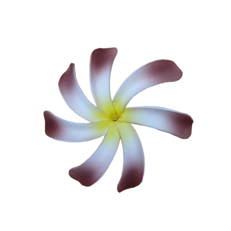 Custom personal pattern hawaiian foam flower frangipani with stem