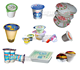 Heat sealing food packaging roll film for bubble tea plastic cup