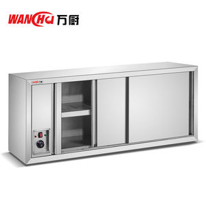 201Stainless Steel Dish Disinfection Cabinet w/Door/Hotel Restaurant Equipment Wall Hanging Dish Wamer/Heating Cupboard Factory