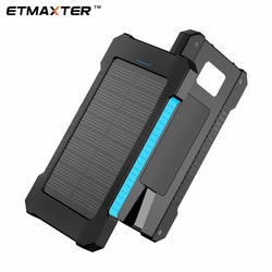 OEM Solar Camping 10000mAh  Power Banks logo Natural energy Charger Micro 2 USB Port Supports powerbank