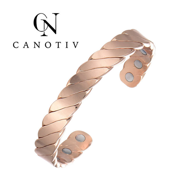 Wholesale Bracelet Arthritis Therapy Energy Bio Copper Magnetic Bracelet for Healing With 6Pcs Energy Element