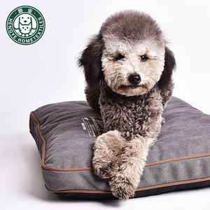 Washable printed canvas high-end dog cushion with good resilience and pet cushion