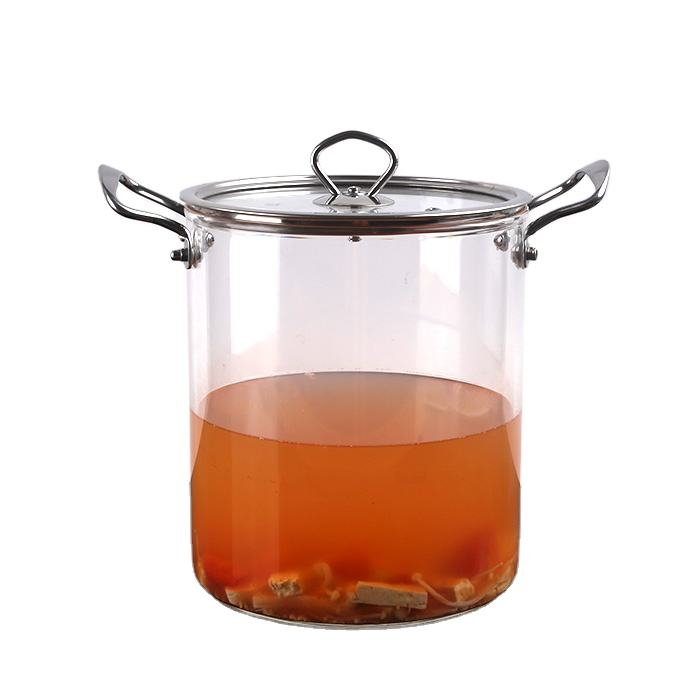 China Factory Wholesale high borosilicate clear glass pyrex cooking pot