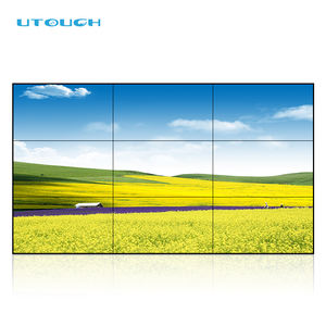 Wall Mounted LCD Datar Interaktif Panel Monitor Layar Sentuh Besar Wall Panel untuk Video Wall