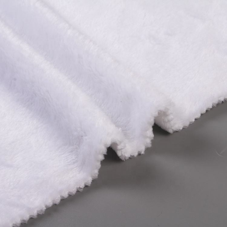 Super soft plush solid double side brushed polyester flannel fleece fabric