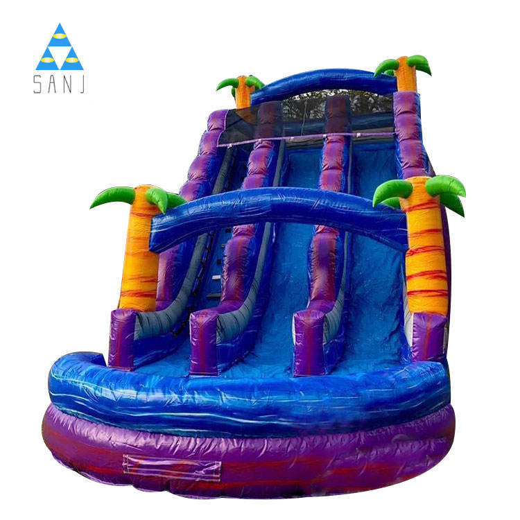 20Ft Purple Tropical Water Slide Inflatables