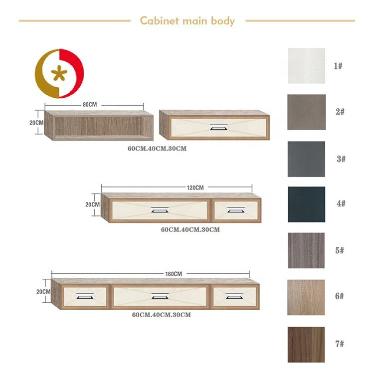 Classic modern european leather carving design customized wood drawer furniture