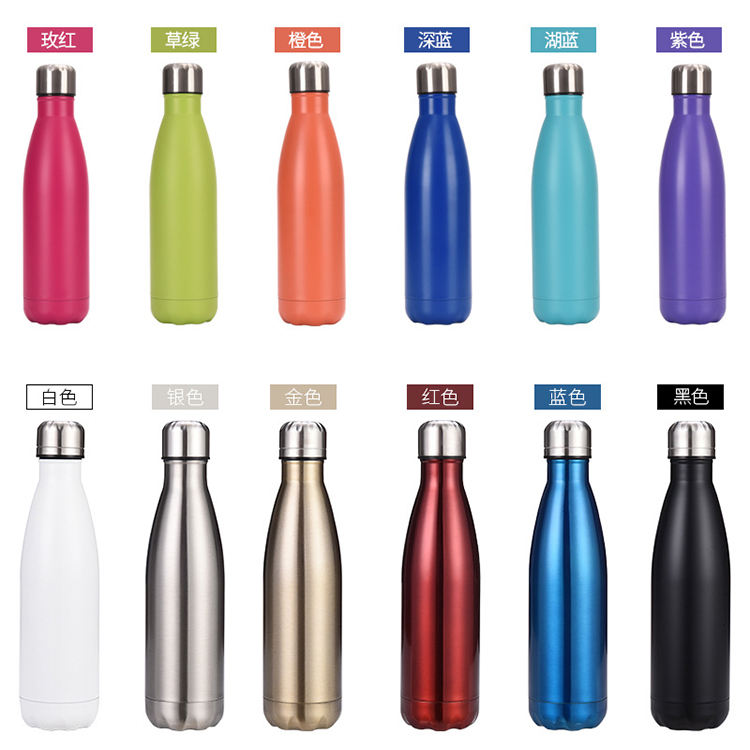 Sport Bottle [ Water Bottle ] Water Bottle New Design 500ml New Design Cola Shaped Vacuum Insulated Stainless Water Bottle Steel