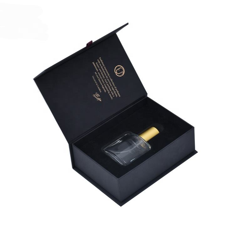 YiFeng Packaging High Quality Printing black card paper box custom design paper empty bottle luxury magnet packaging perfume box